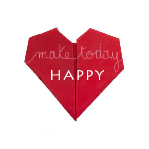 Coeur origami Make today Happy